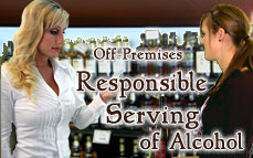 Bartending License, alcohol server education certificate Off-Premises Responsible Serving®